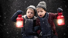Children With Oil Lamp In The ...