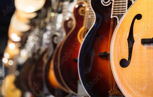 Spoed Foto op Canvas Muziekwinkel Guitar Bodies