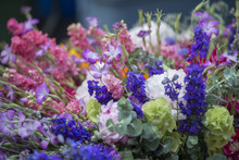 Display Of Colorful Flower Bou...