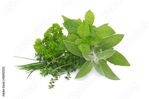 Stickers pour portes Condiment Mélanges de plantes aromatiques