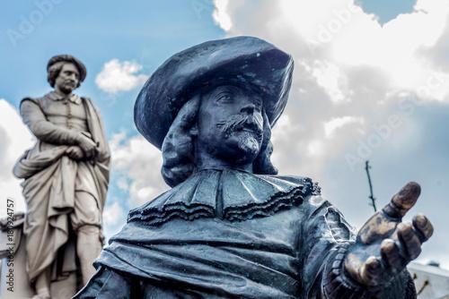 Obraz na dibondzie (fotoboard) Rembrandt statua w Amsterdam, holandie