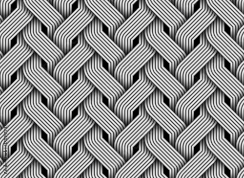 Obraz Vector seamless pattern of braided fiber. - fototapety do salonu