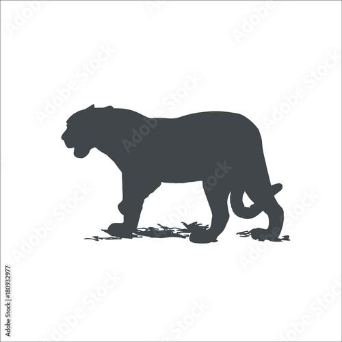 Tuinposter Panter Jaguar icon