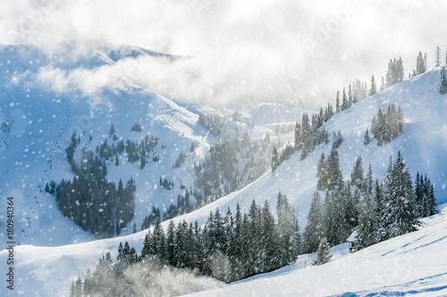 Foto-Leinwand ohne Rahmen - Winter in den Tiroler Alpen (von refresh(PIX))