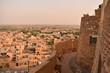 view of jaisalmer city from jaisalmer fort rajasthan india