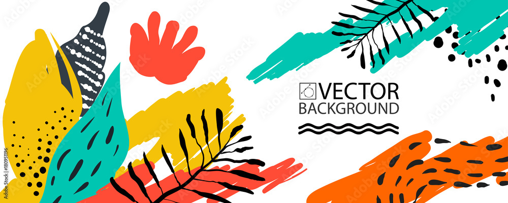 Fototapety, obrazy: Abstract trendy illustration background, placard, floral stylized cactus succulent plant, style flat and 3d design elements. Unique art for covers, banners, flyers and posters.
