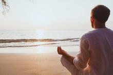 Meditation, Man Practicing Yog...