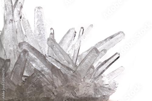 white phosphate crystal Canvas Print
