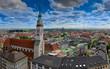 Panorama von München, alter Peter am Marienplatz