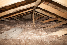 Mineral Wool In The Attic Of T...