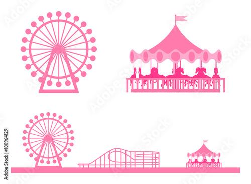 Tuinposter Amusementspark 遊園地