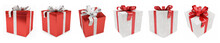 Red Christmas Gift Isolated 3D...