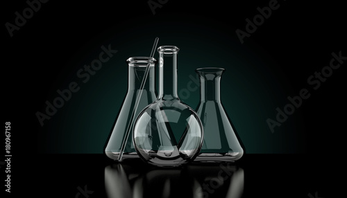 Fotografia  Chemistry flasks isolated