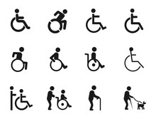 Disabled Handicap Icons Set, V...