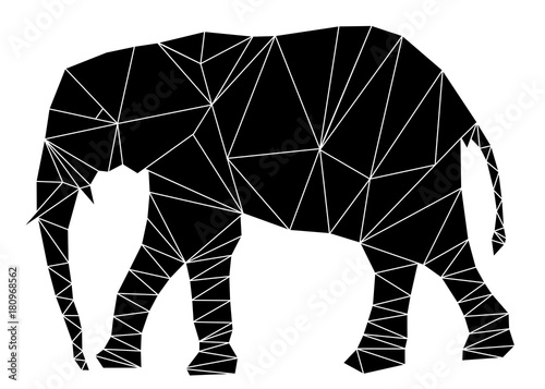 Fotografie, Tablou Geometric elephant illustration vector eps 10