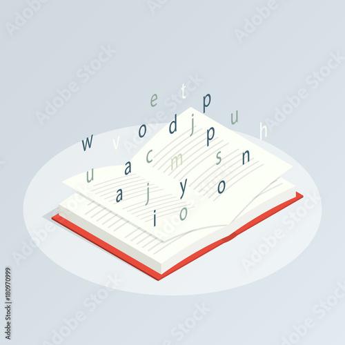 Photo isometric book reading vector