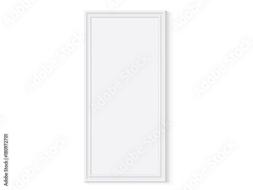 white wooden or plastic frame is easy to change colors mock up ...