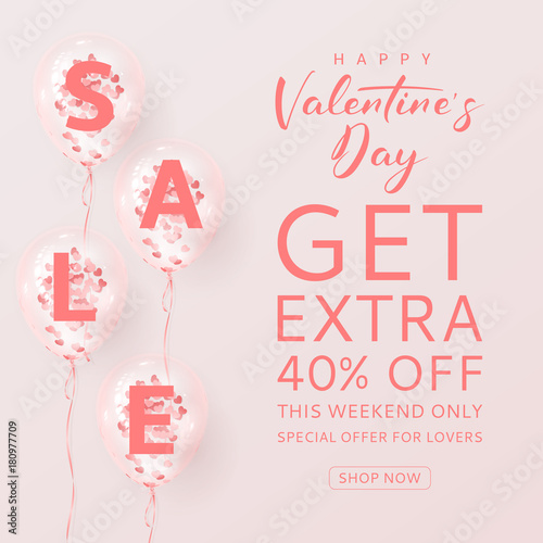 adaff2e0549c2 Promo Background for Valentine's Day Sale. Vector Illustration ...