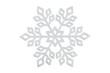 canvas print picture - xmas snowflake