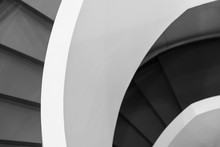 Black And White Spiral Stairs ...