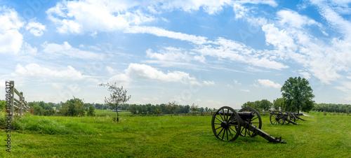 Fotografie, Obraz  Historic Cannon Artillery Overlooking Landscape Panorama