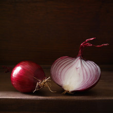 Still Life With Red Onion On A...
