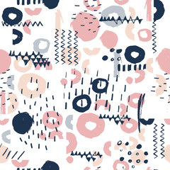 Tapeta Seamless pattern with hand drawn textures.