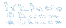 Collection Of Pet Icons Drawn ...