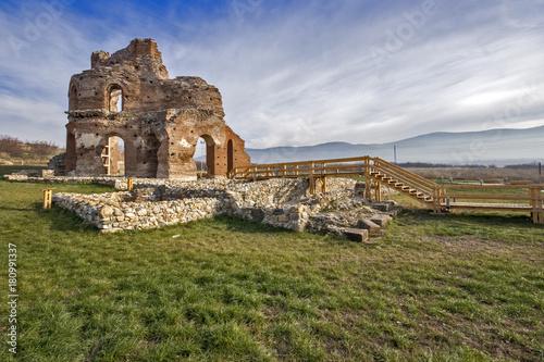 Aluminium Prints Ruins Red Church - large partially preserved late Roman (early Byzantine) Christian basilica near town of Perushtitsa, Plovdiv Region, Bulgaria