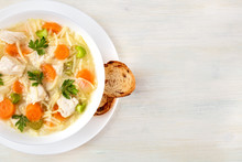 Chicken Soup With Noodles, Ove...