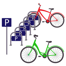 Bicycle Parking With Two Bicyc...