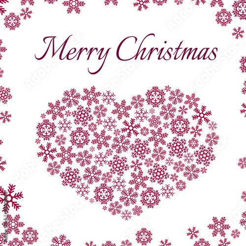Keuken foto achterwand Vrouw gezicht Christmas and New Year Snowflakes vector Postcard