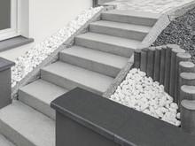Moderne Außentreppe Aus Grani...