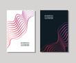 Minimal covers design set. Simple shapes.