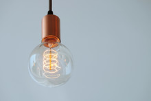 Vintage Filament Lamp With Coi...