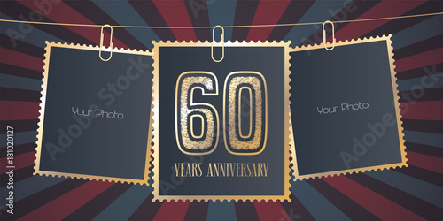 Fotografia  60 years anniversary vector emblem, logo