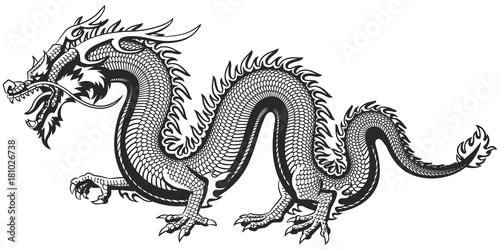 Traditional Asian Dragon Canvas-taulu