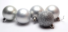 Ball For Christmas And New Year On Grey Background