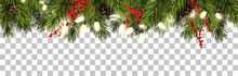 Christmas Border With Fir Bran...