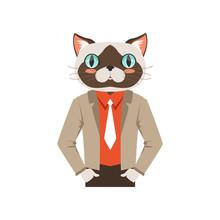 Cute Fashion Cat Guy Character...