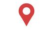 Leinwandbild Motiv Map marker icon red
