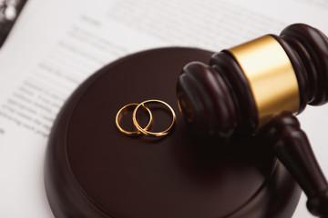 Koncepcja rozwodu z młotek i obrączki