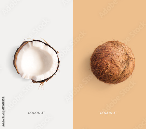Fotografia Creative layout made of coconut