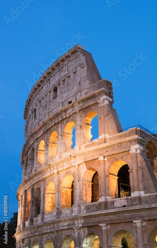 Photo  The Colosseum in Rome by Night, Italy