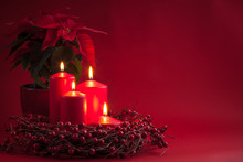 Red Burning Advent Christmas C...