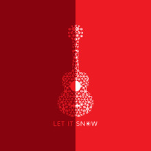 Let It Snow. Poster With Doodl...