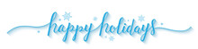 HAPPY HOLIDAYS Banner In Brush...