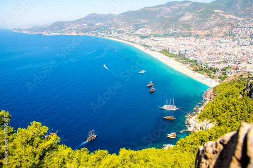 The beauteaful Alanya castle Canvas Print