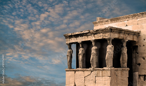 Printed kitchen splashbacks Athens Karyatides, Erehtheio, Acropolis