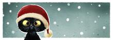 Gato Con Gorro De Navidad